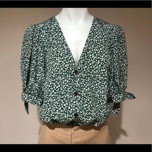💯 Auth Veronica Beard tie blouse